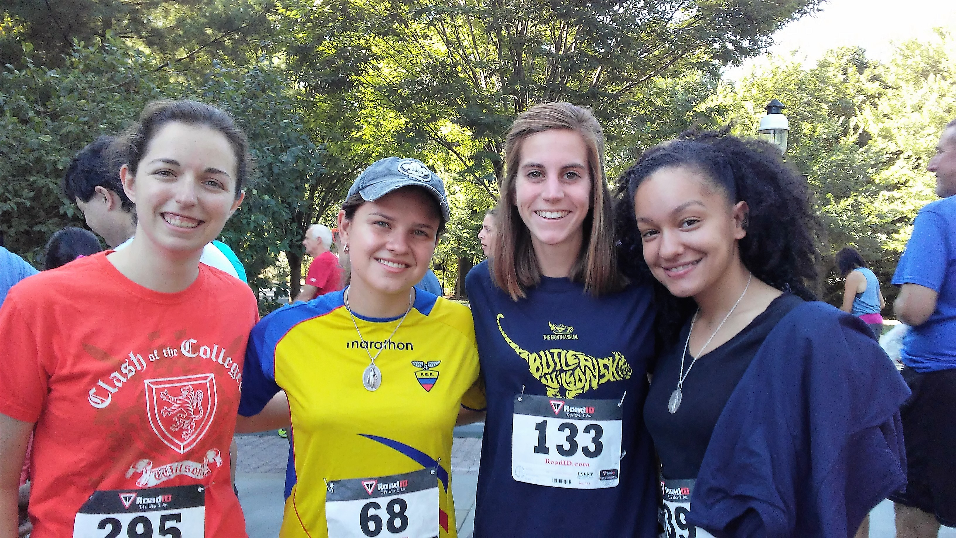 Outside of attending events together at Aquinas, a few of my Catholic friends and I try to meet up weekly to have some fun. Here is a photo from our 5K this September!