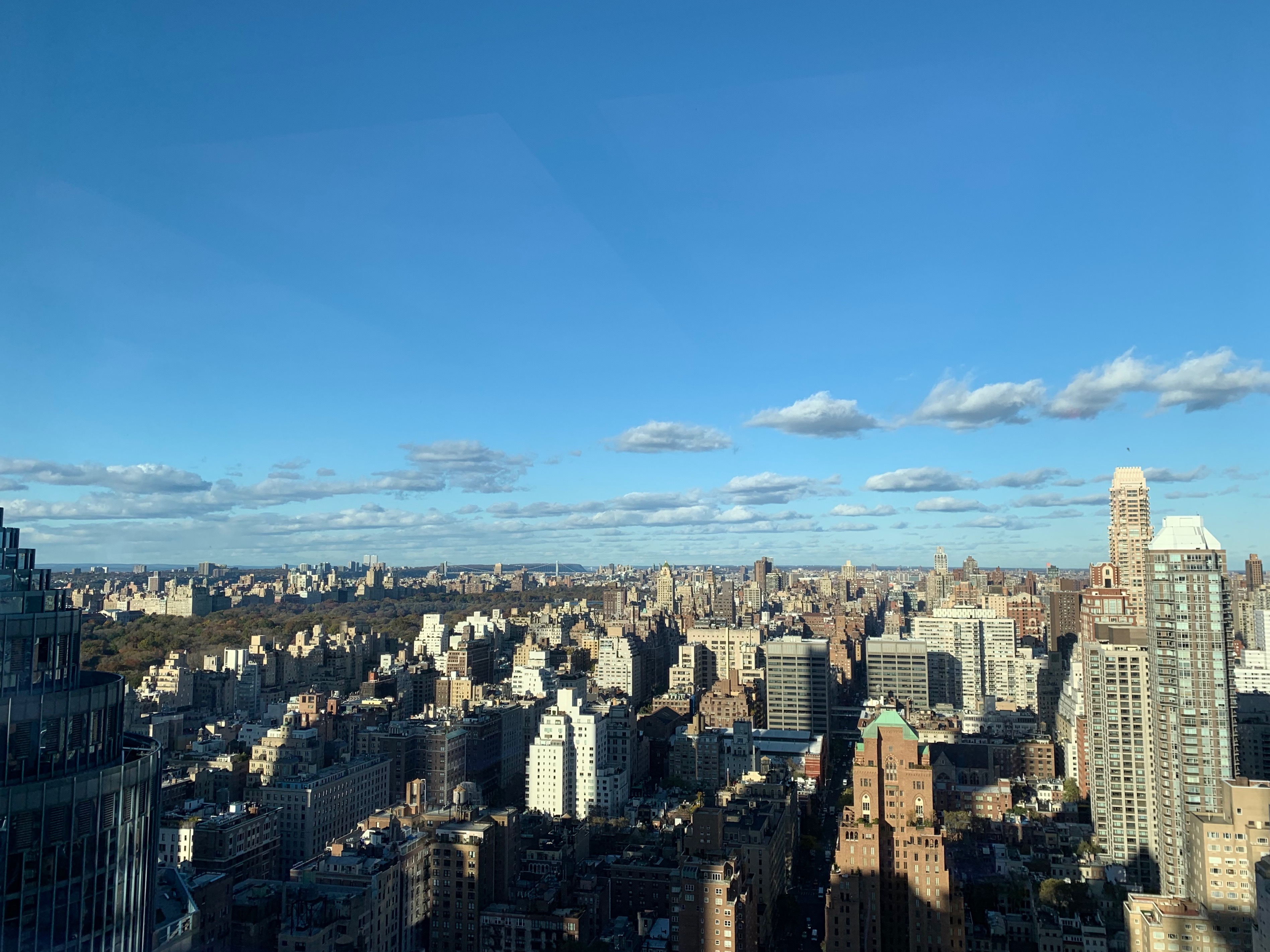 View of New York City from the Bloomberg News headquarters