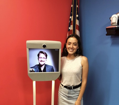 Video-conferencing with Edward Snowden