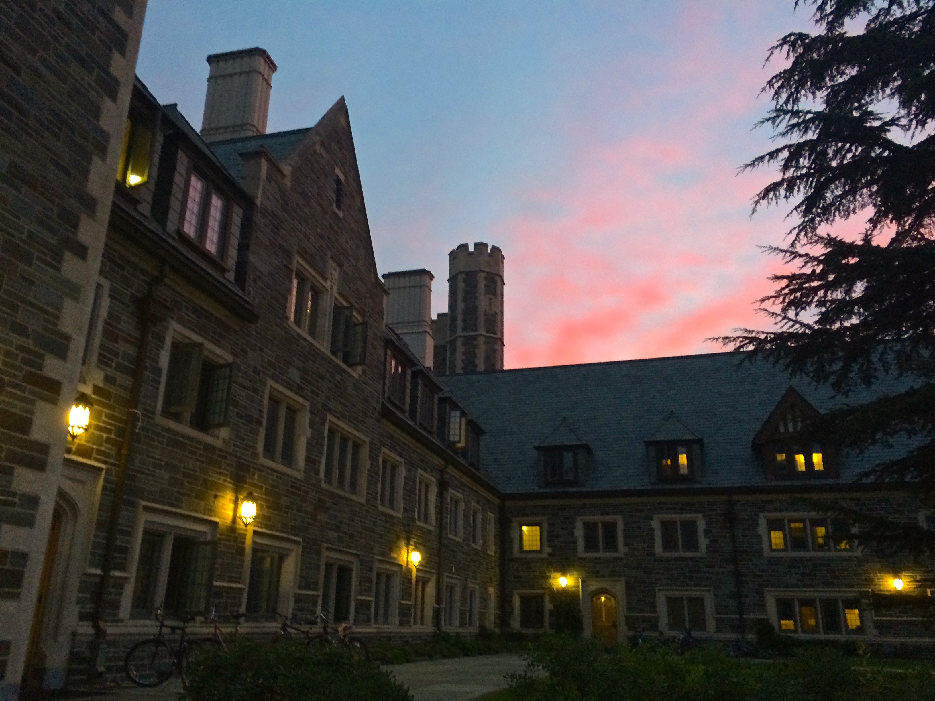 Sunset over Whitman College