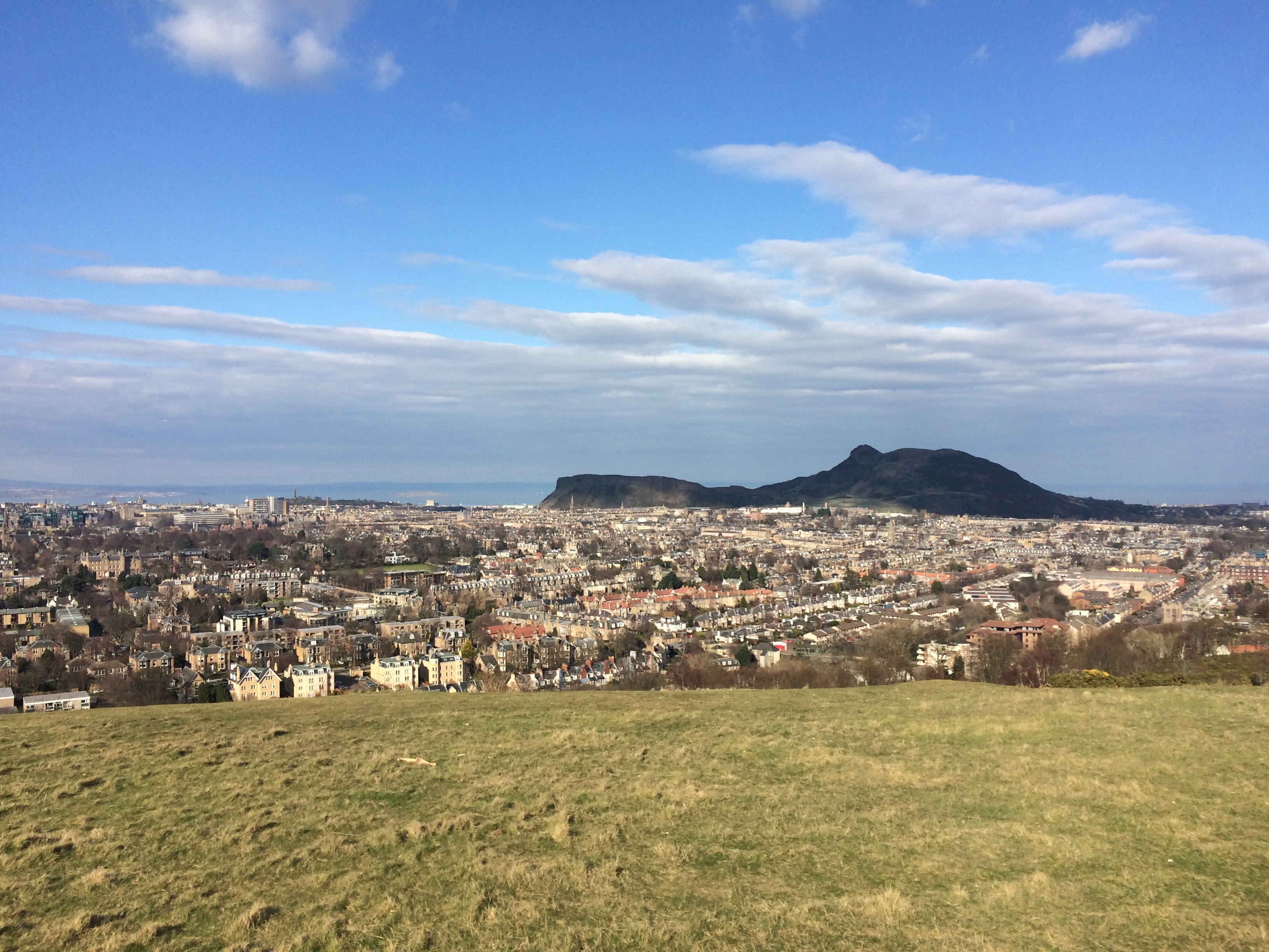Looking over Edinburgh and Arthur's Seat
