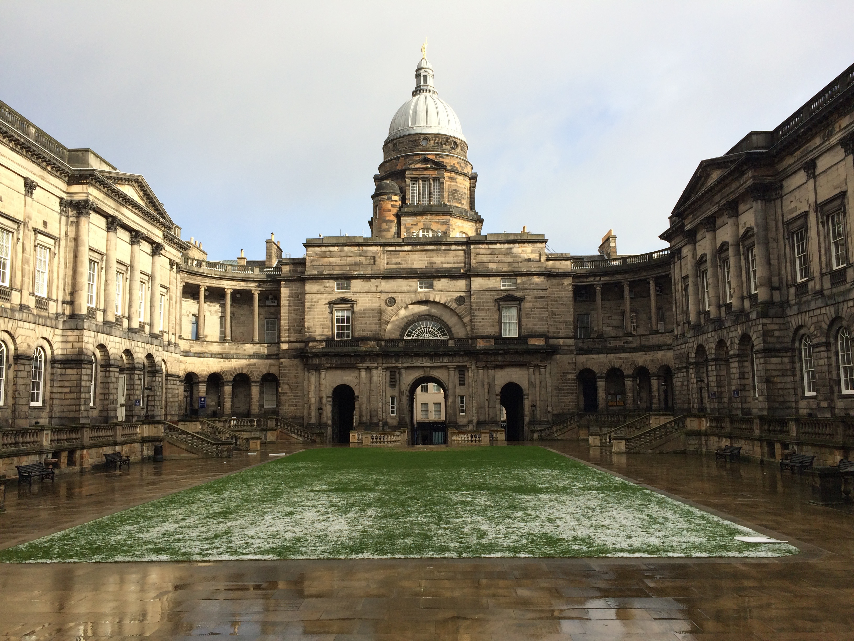 University of Edinburgh's old campus, after the rain