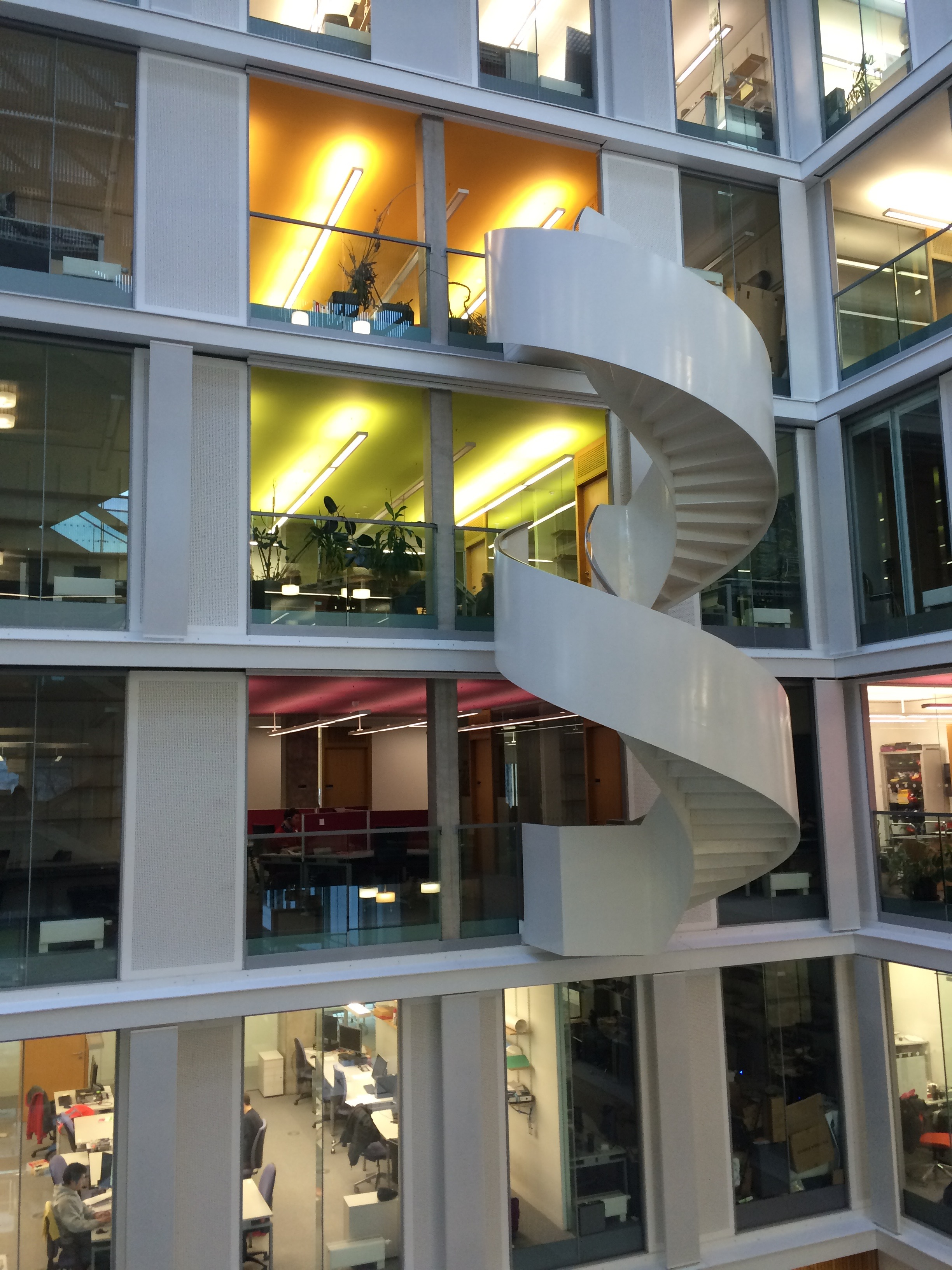 Inside the colorful School of Informatics at Edinburgh