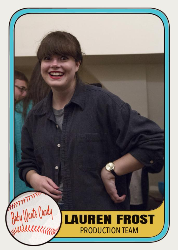 Intern trading card of me.