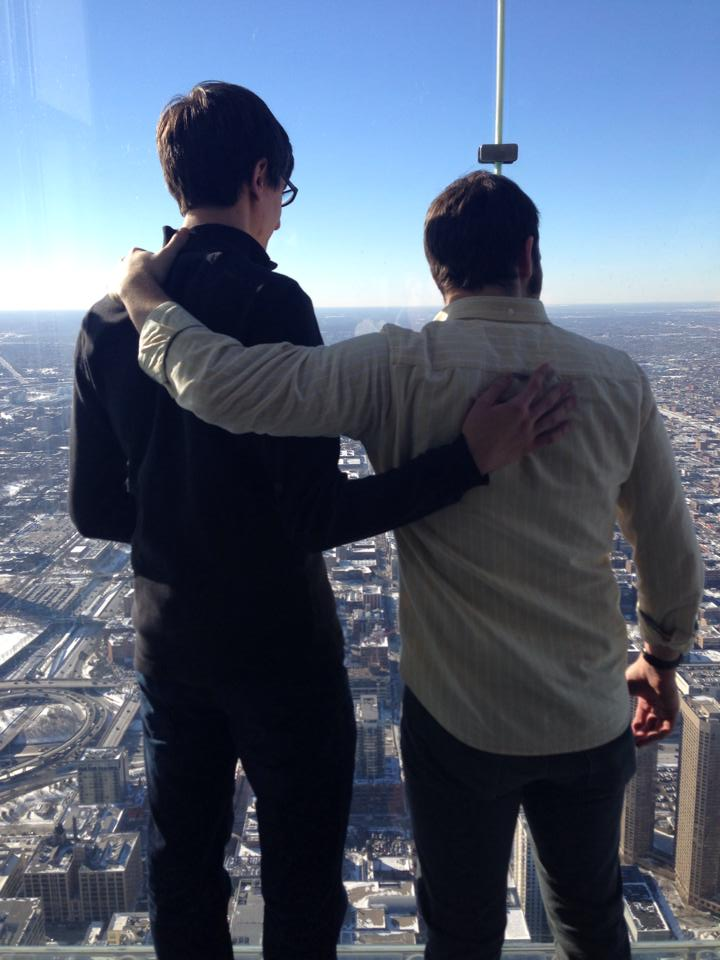 Adam and Jake on the Skydeck