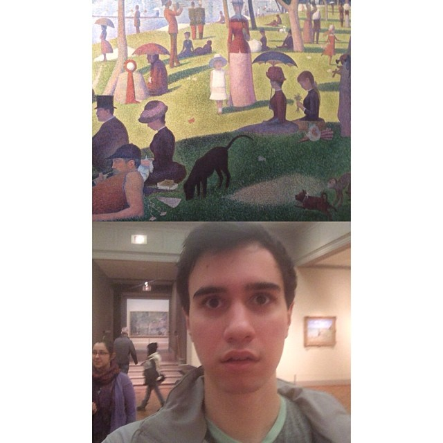 Nick and a Seurat painting