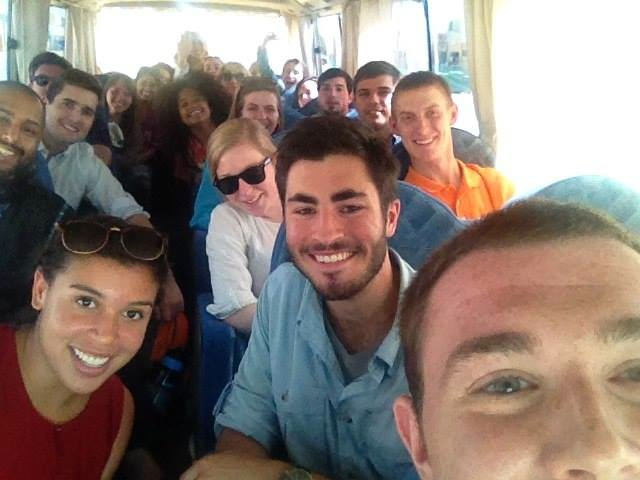 The CLS students all on a bus!
