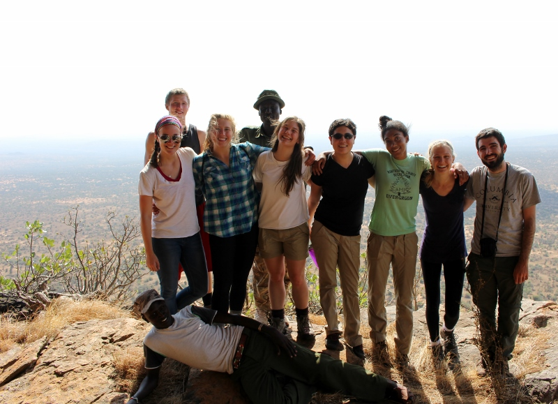 Kenya study abroad students on the top of Moo Kenya