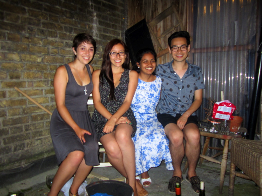 Princetonians hanging out in London