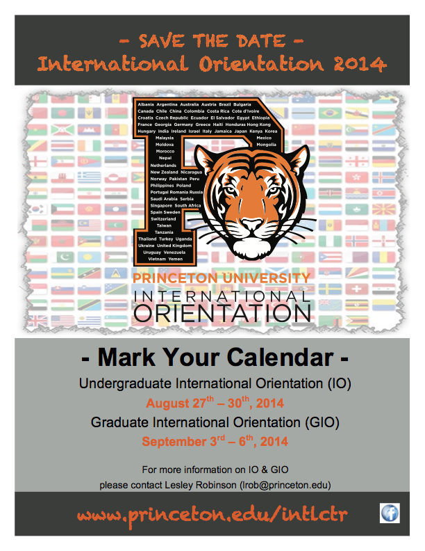 International Orientation Aug. 27-30, 2014