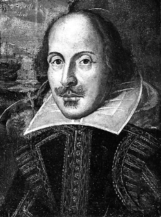 Classic, Black and White Shakespeare Image