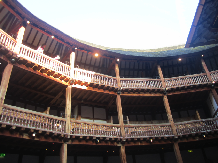 A picture of the Globe from the groundlings section