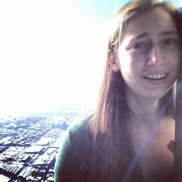 Vivien on the Skydeck