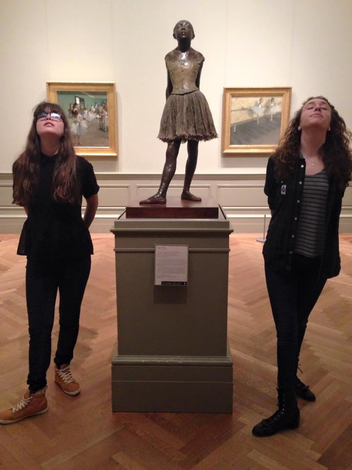 Lauren, Anna, and a Degas sculpture