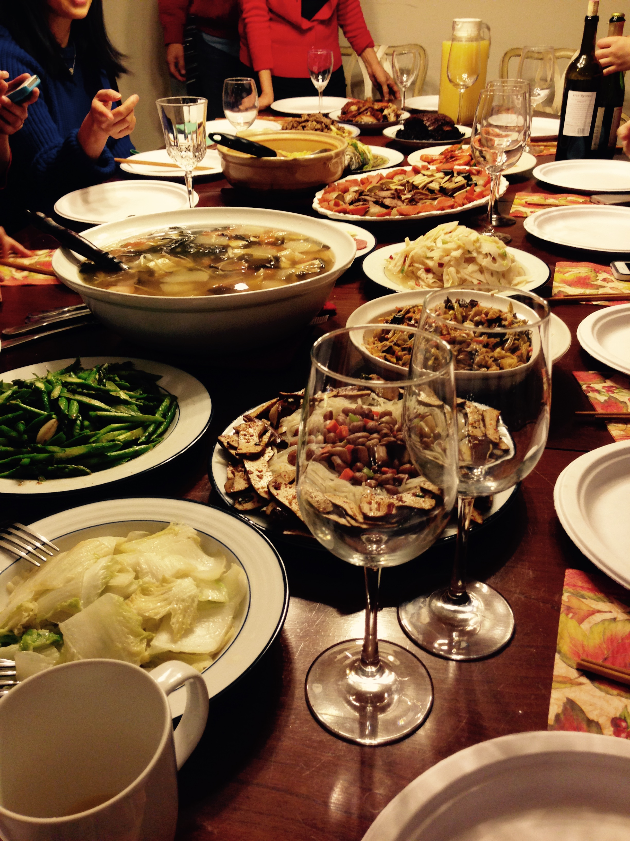 Dishes for Chinese New Year feast