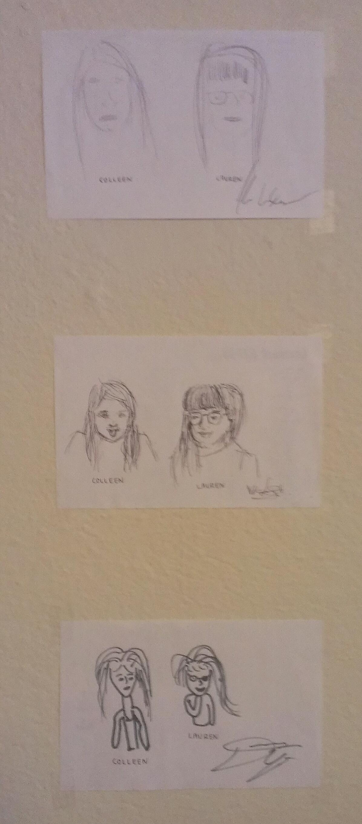 Portraits of me and Colleen