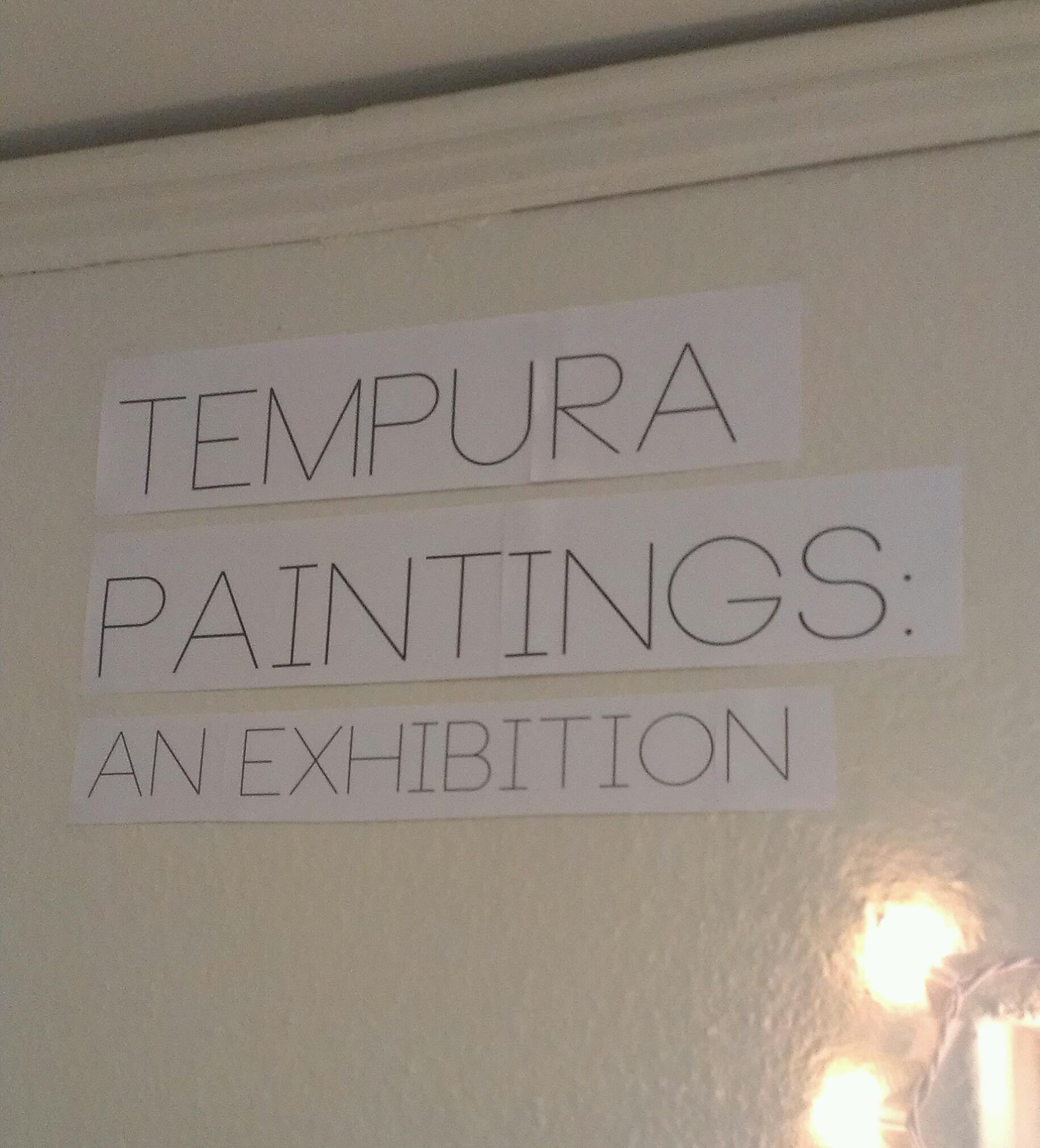 Tempura Paintings: An Exhibition