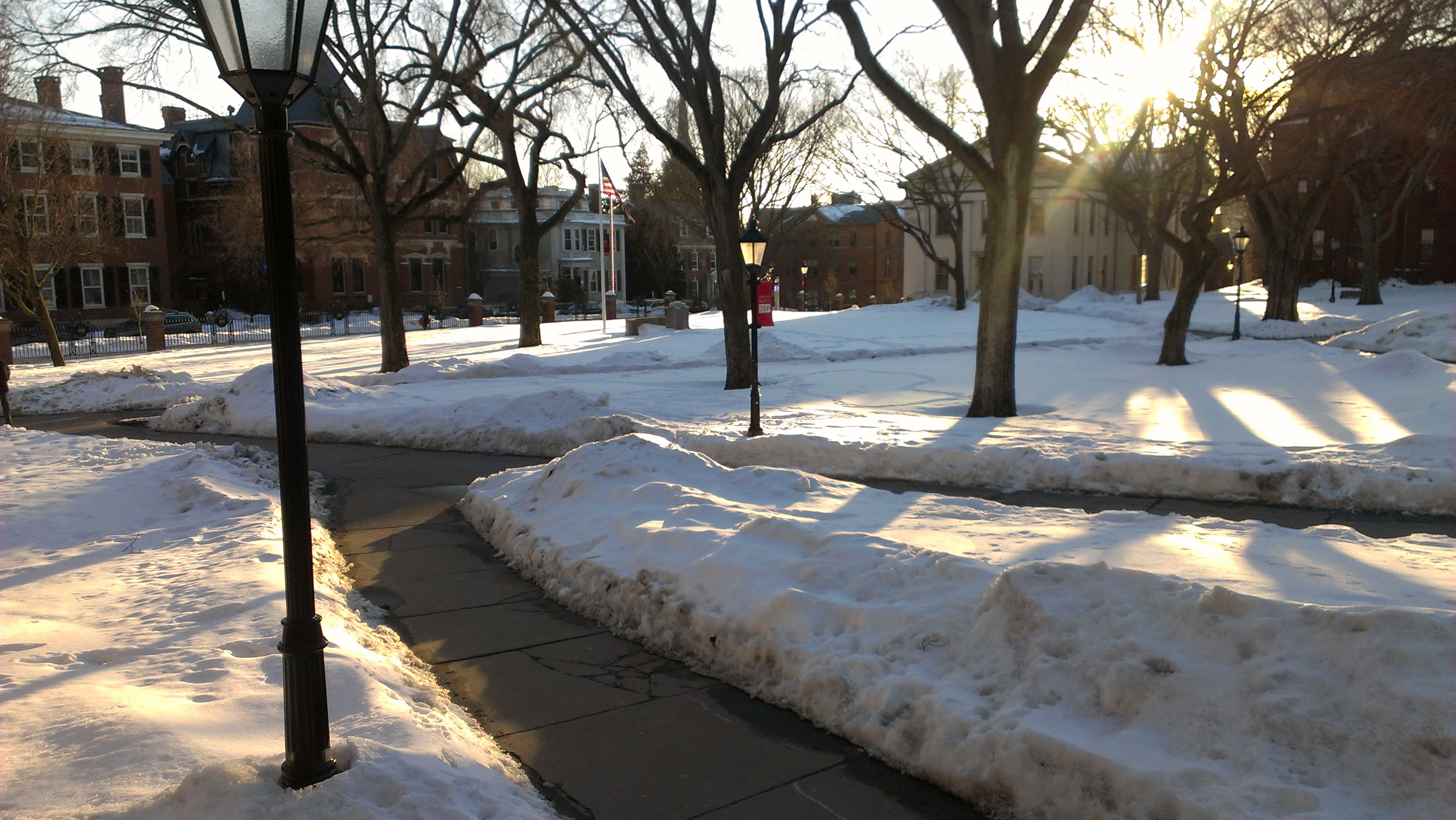 Brown University Covered in Snow