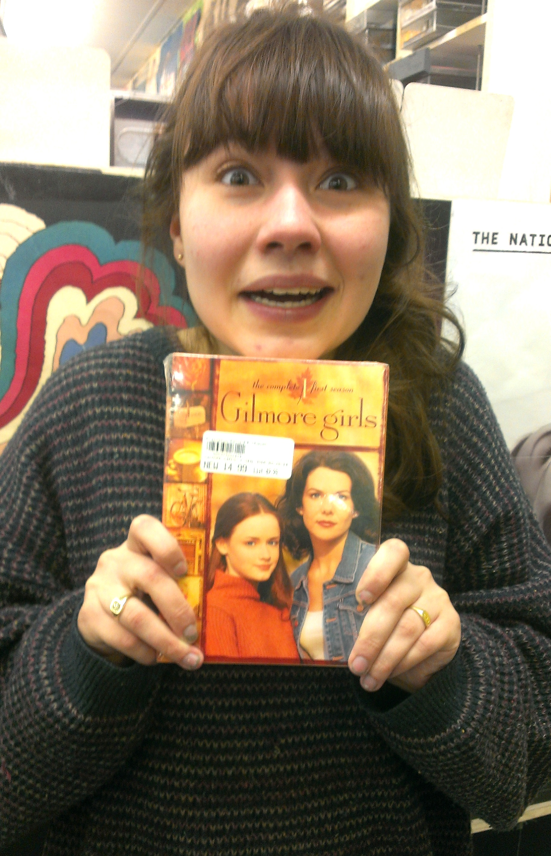 Amy with Gilmore Girls DVD
