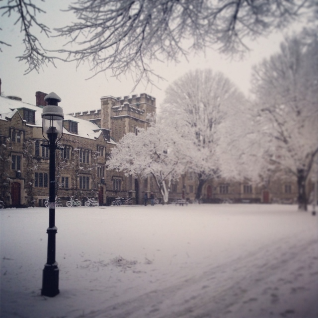 Image of Mathey College in the snow