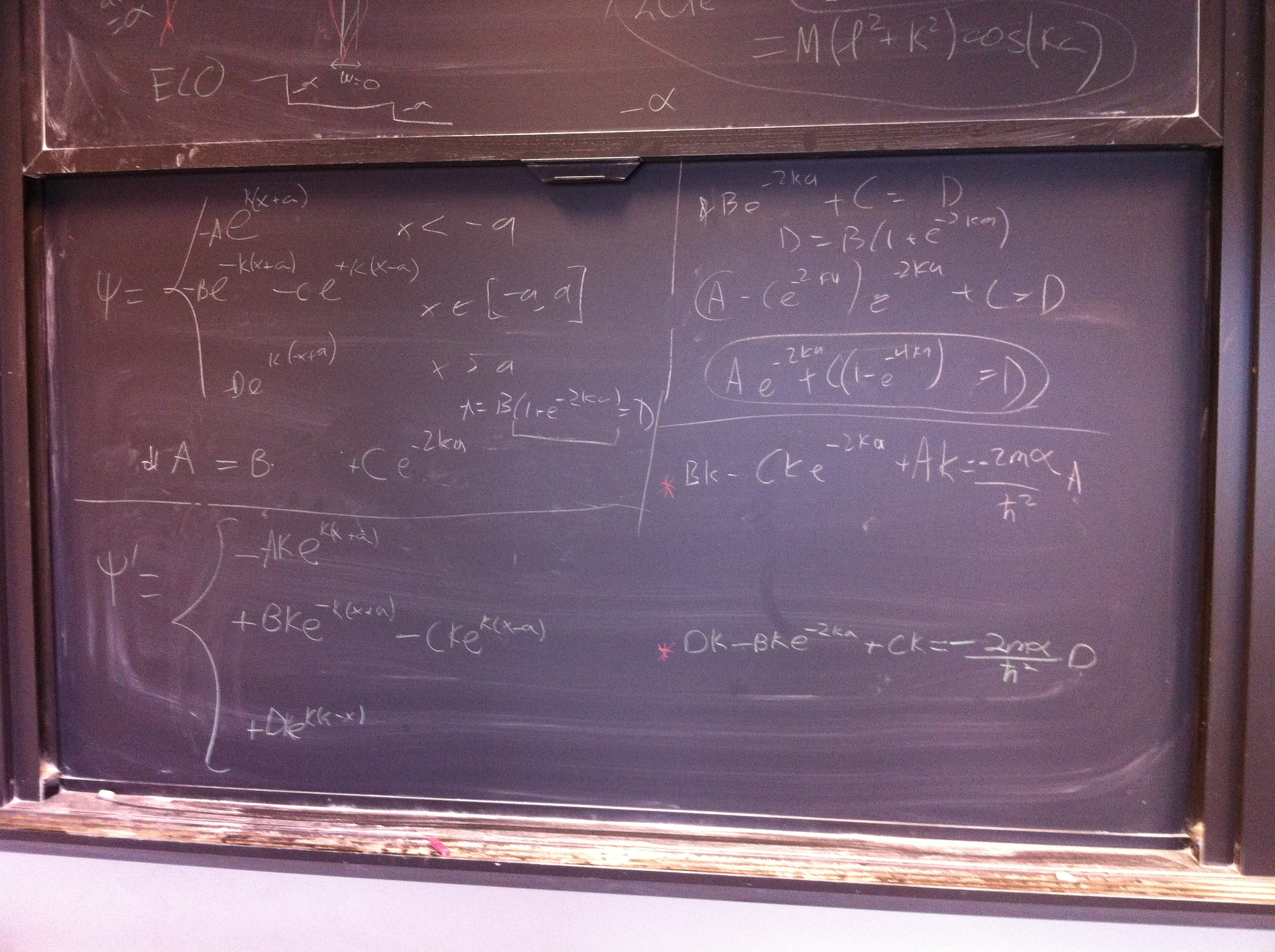 A blackboard with more equations