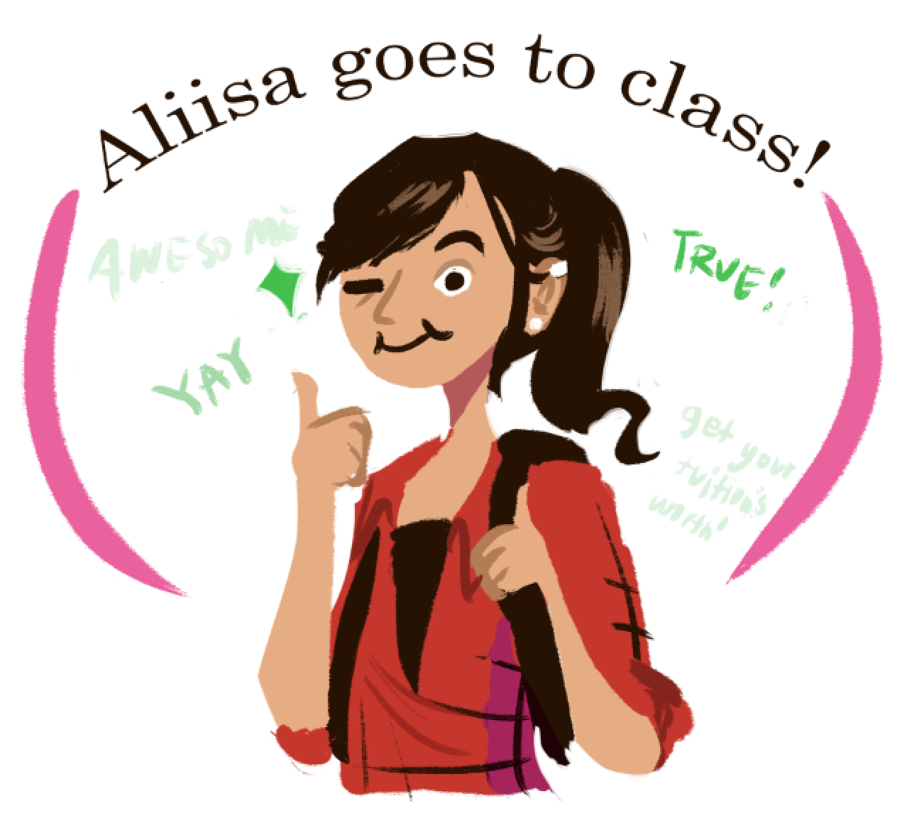 aliisa goes to school