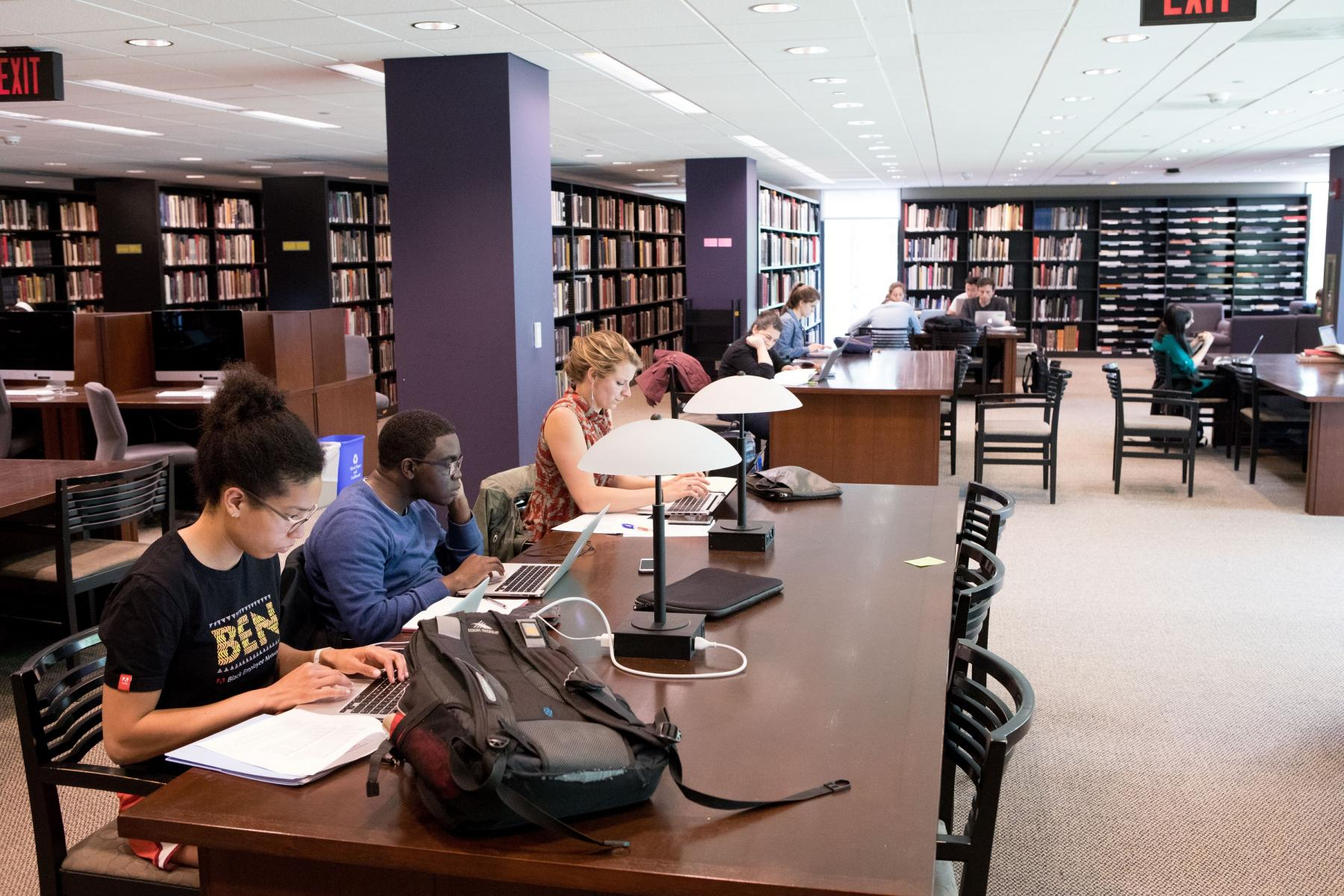 Students in Marquand Library