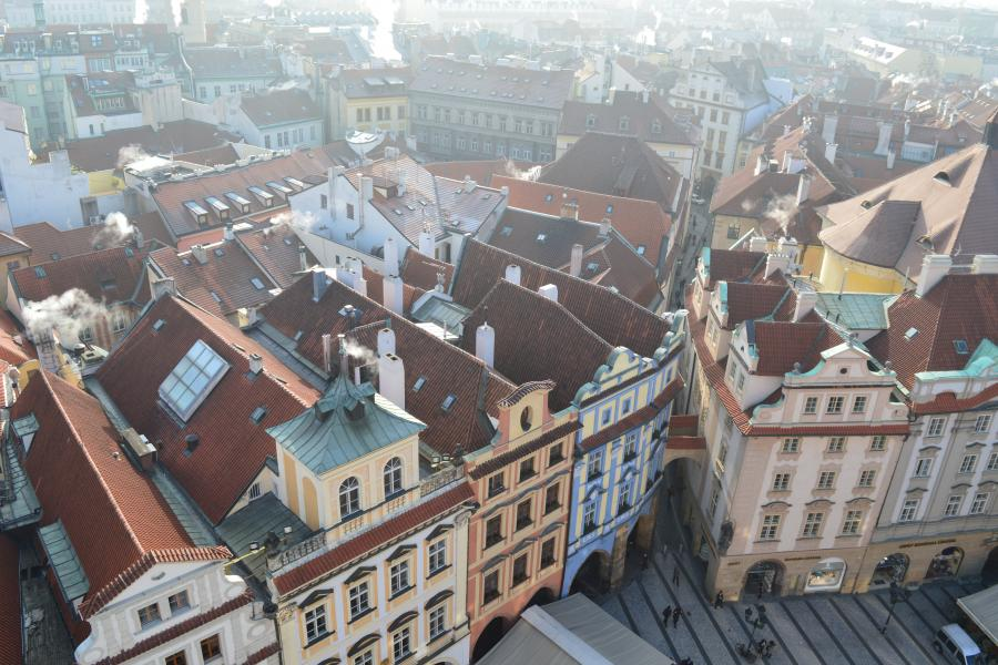 City of Prague from the bell tower