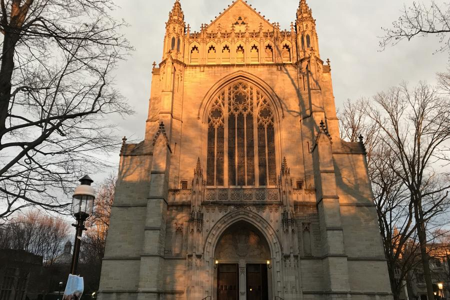 University Chapel at sunset
