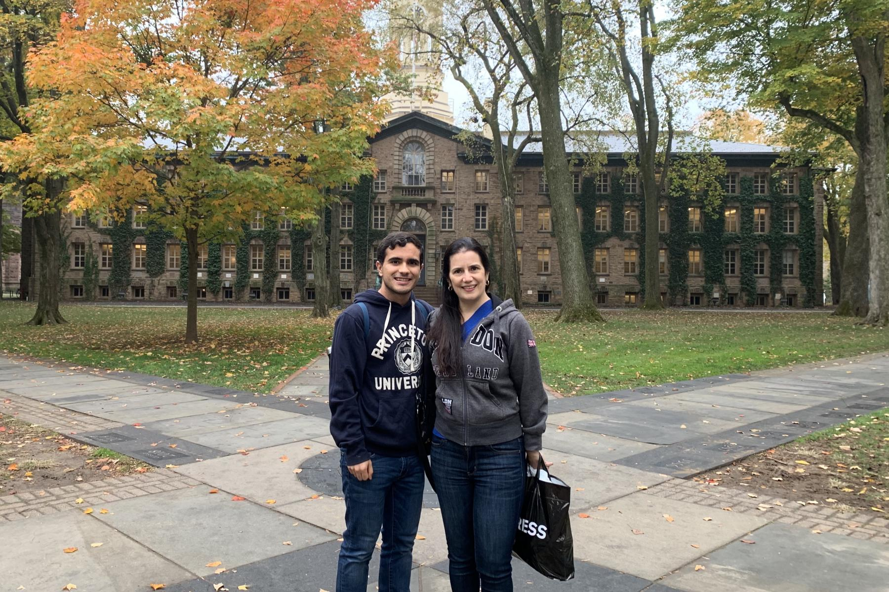 My mom and I in front of Nassau Hall.