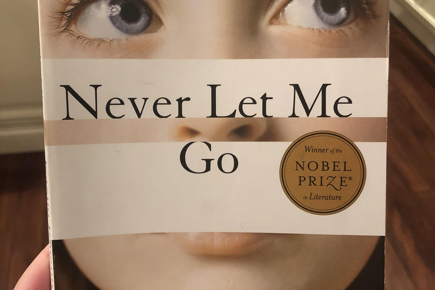 Book cover titled Never Let Me Go by Kazuo Ishiguro