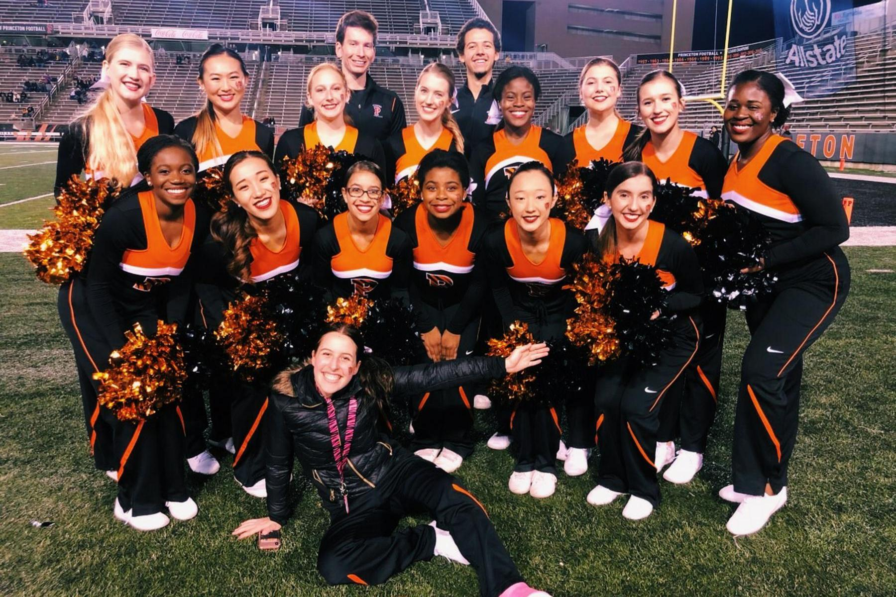 Princeton Cheer at a home football game
