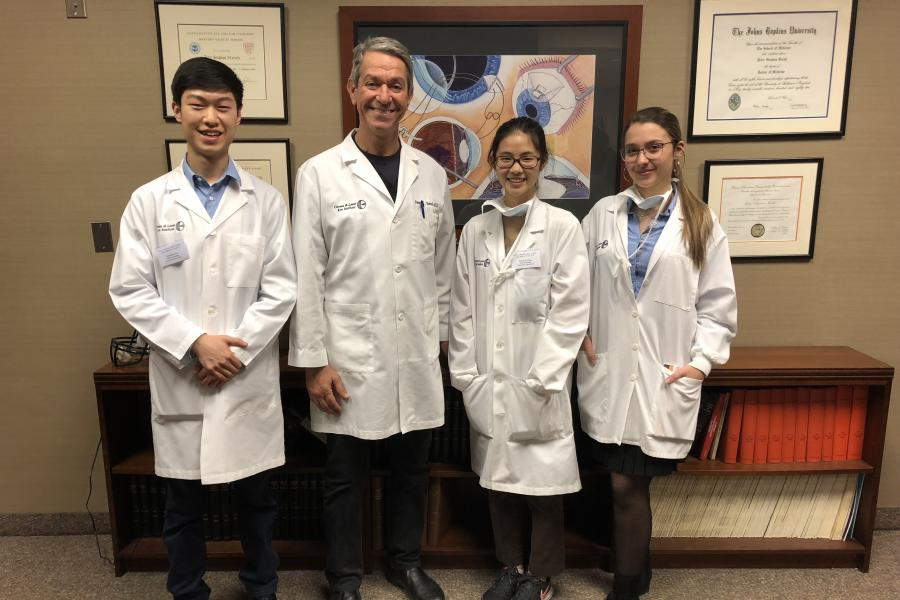 Dr. Peter Hersh with his student interns