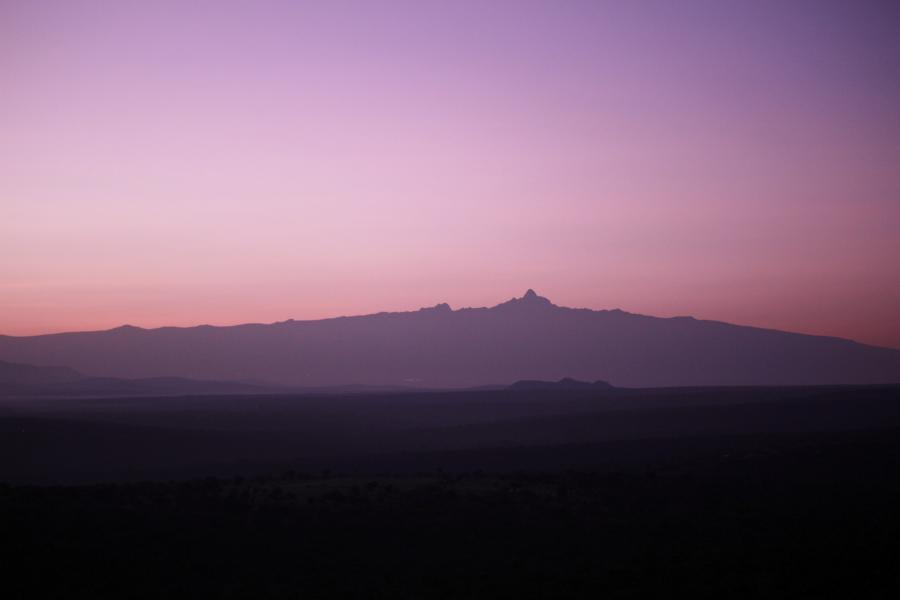 Mt. Kenya at sunrise