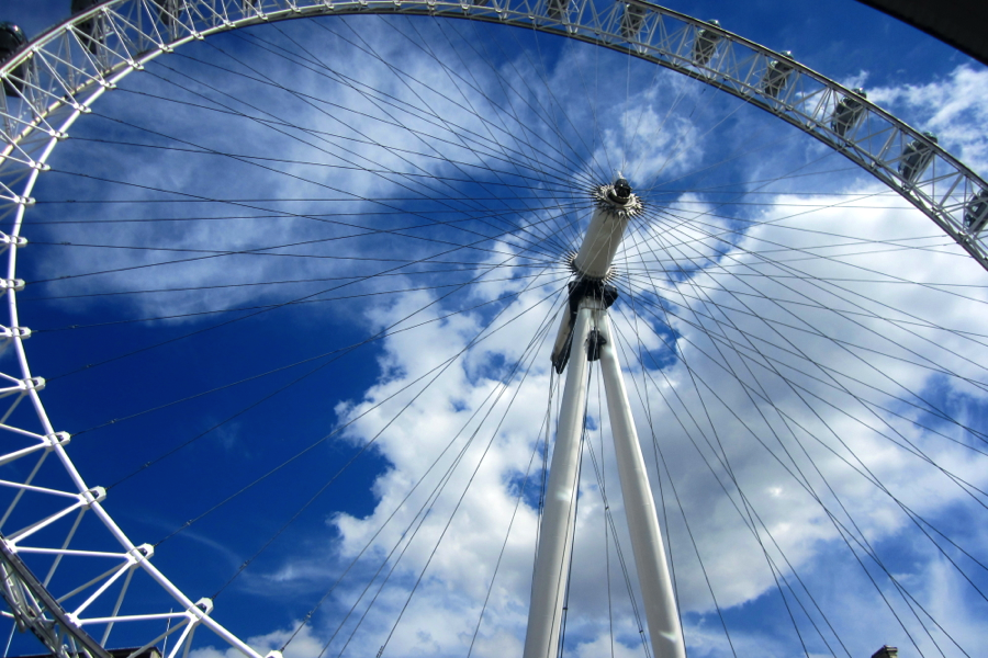 Shot of the London Eye