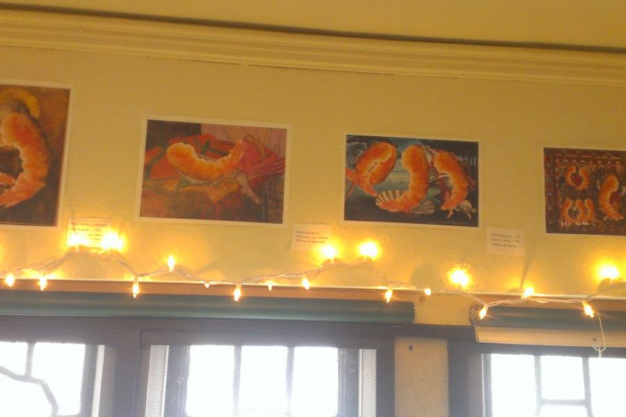 Tempura shrimp paintings