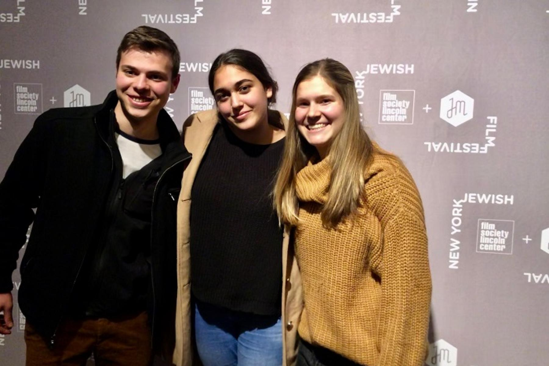 Students at the film festival