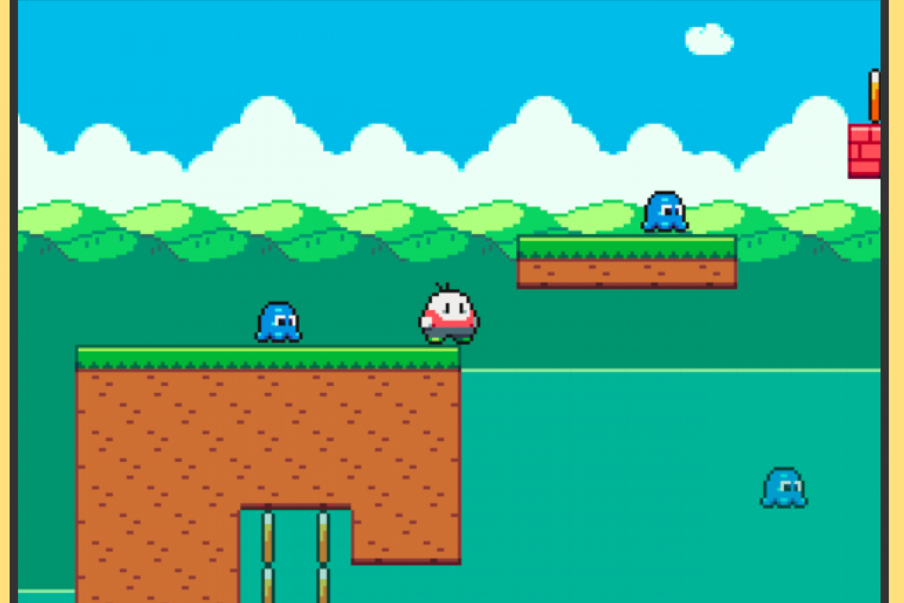 A screenshot of our game RADish.