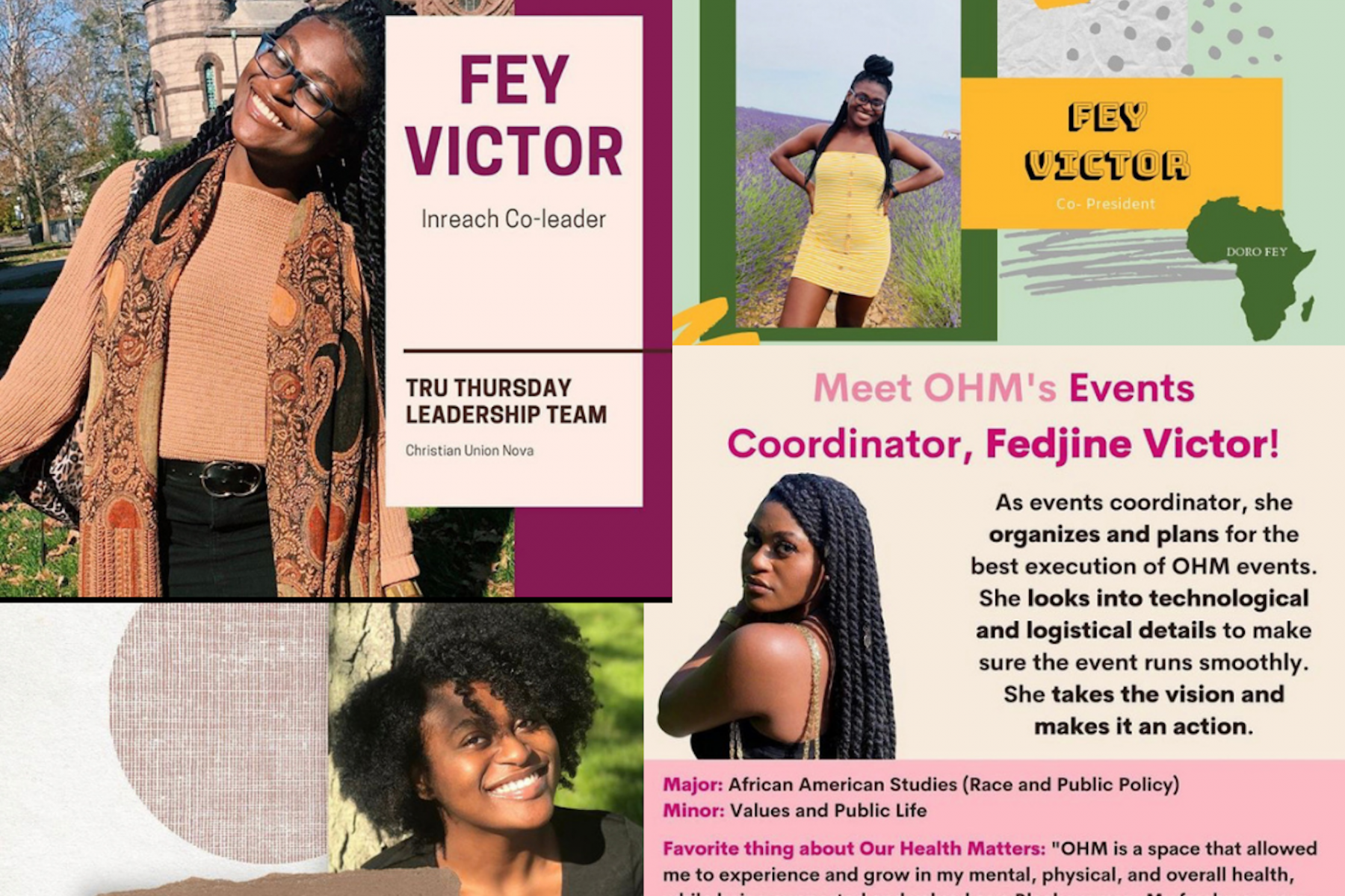 Fey's leadership positions