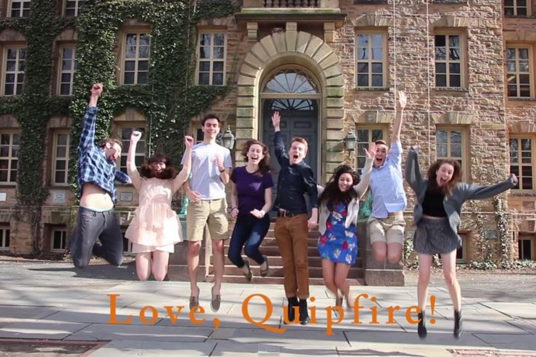 Princeton students outside Nassau Hall