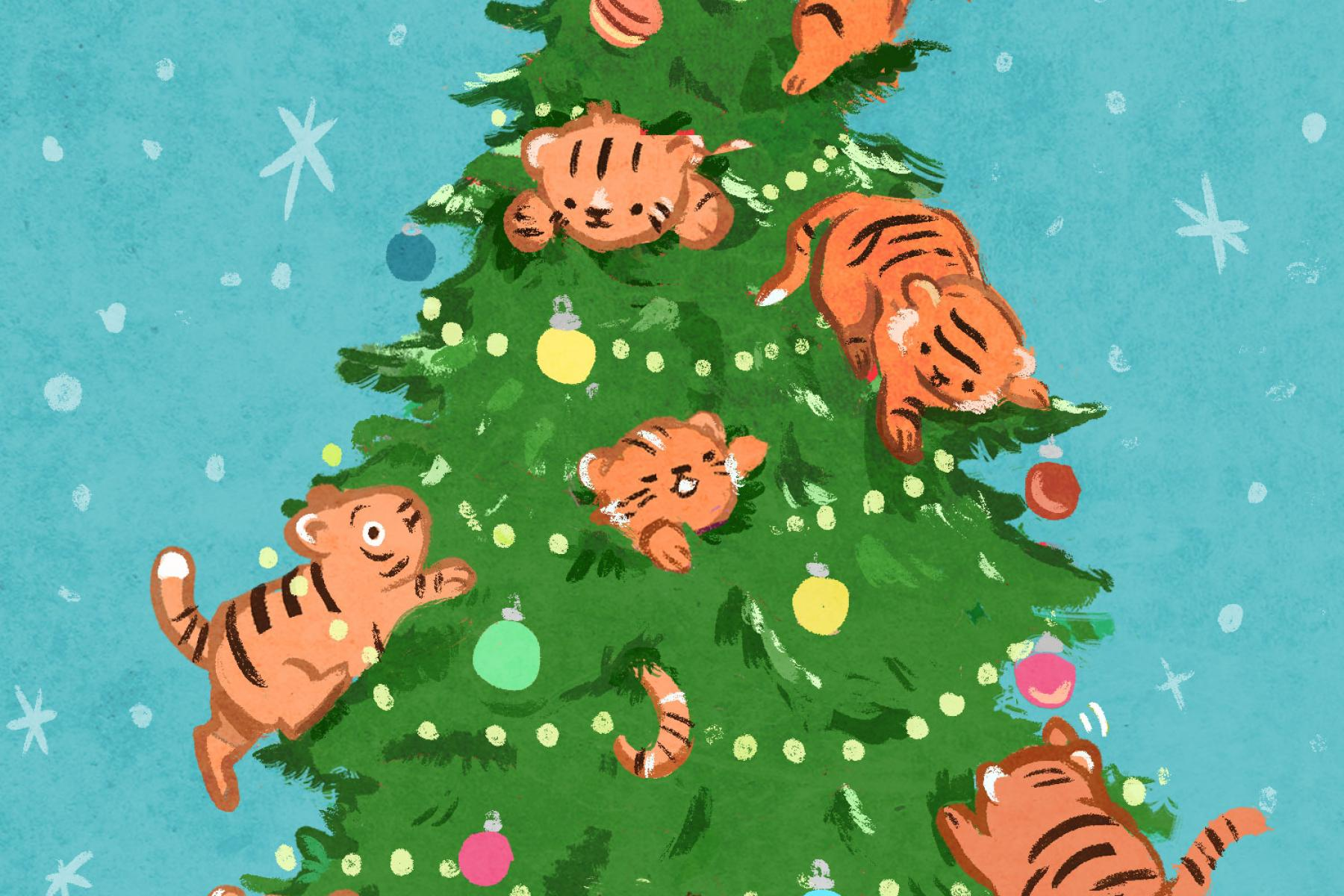 Tigers in a tree