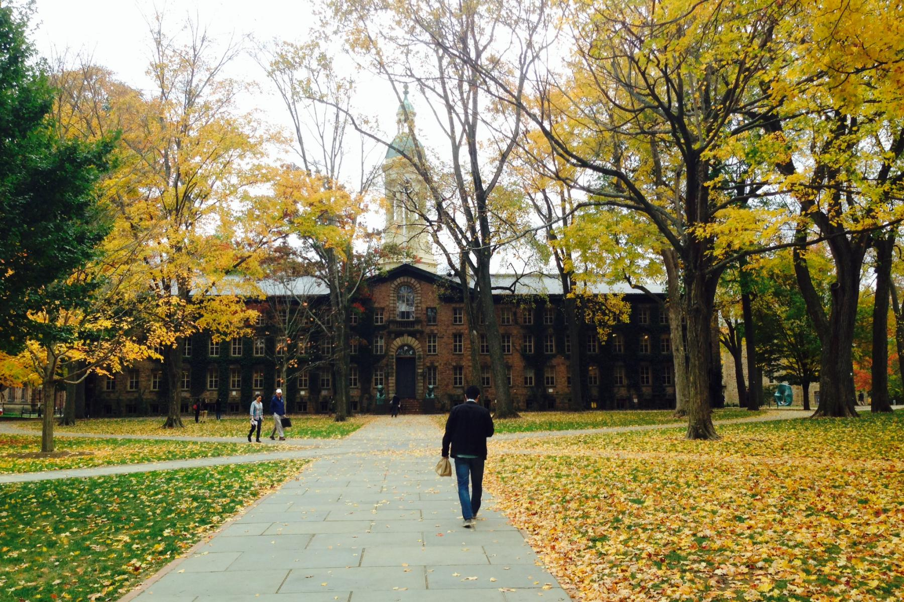 Nassau Hall in the fall