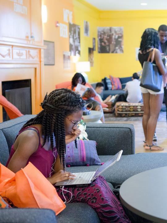 students studying in Carl A. Fields Center
