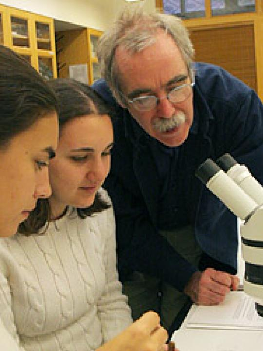 Professor Eric Wieschaus in lab