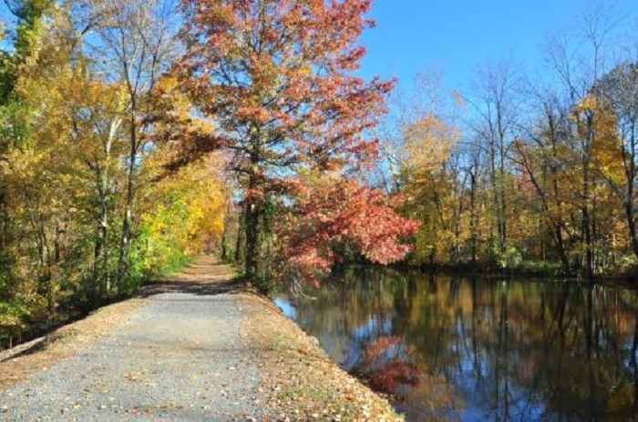 A towpath along the Delaware and Raritan Canal